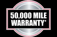 50,000 Mile Warranty